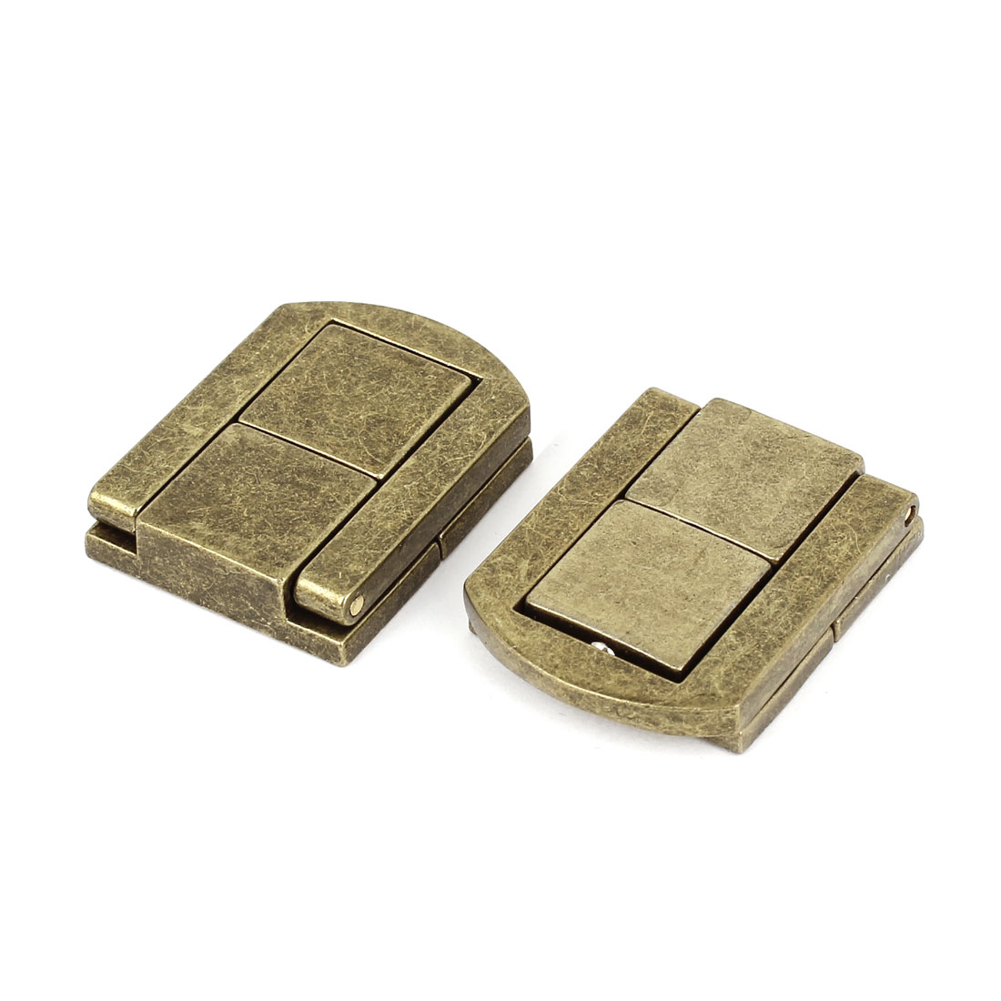 Unique Bargains Jewelry Box Chest Case Draw Spring Latch Bronze Tone 31mm x 24mm 2Pcs