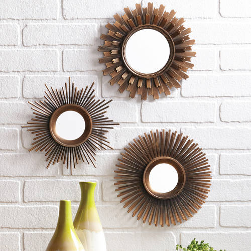 Wall Decor Mirror Sets better homes and gardens 3-piece mirror set, multiple finishes