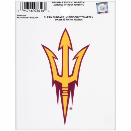 Rico Arizona State Sun Devils Reusable Static Cling Decal