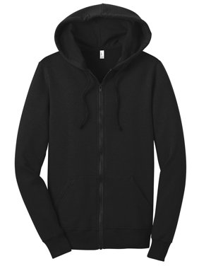 32e641191 Product Image District Women's Full Zip Fleece Concert Drawstring Hoodie.  Product Variants Selector. Black
