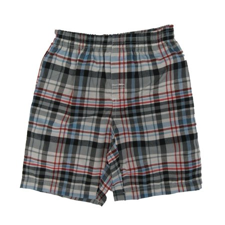 Disney Little Boys Red Grey Plaid Pattern Stretchy Waist Cotton Shorts](Red Boy Shorts)
