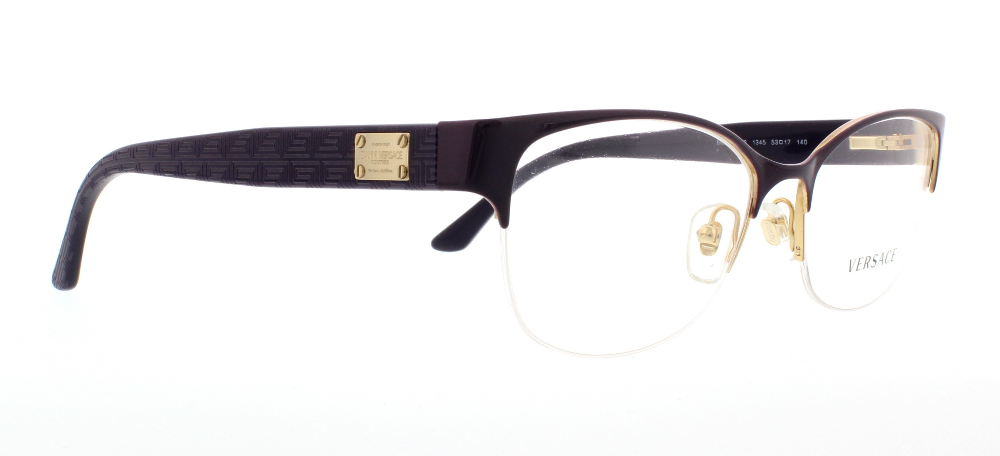 4bdc05d4e1 VERSACE Eyeglasses VE 1222 1345 Gold 53MM - Walmart.com