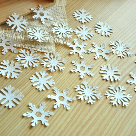 Frozen Birthday Party Decoration Confetti 25CT. Ships in 1-3 Business Days. White Glitter Snowflake Confetti.