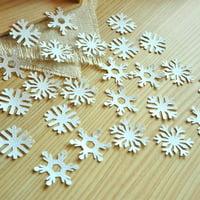 Frozen Birthday Party Decoration Confetti 25CT. Ships in 1-3 Business Days. White Glitter Snowflake Confetti.
