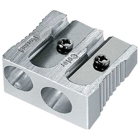 Mobius & Ruppert - Magnesium 2-Hole Sharpener - Art Pencil - Normal/Colored Pencil Double Sharpener-Carded