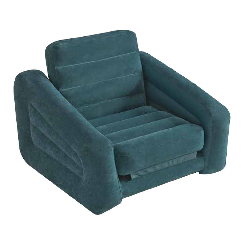 Intex 68565EP Inflatable Pull Out Sofa Chair and Twin Bed Air Mattress Sleeper