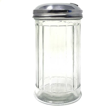 - Glass Sugar Dispenser With Stainless Steel Lid