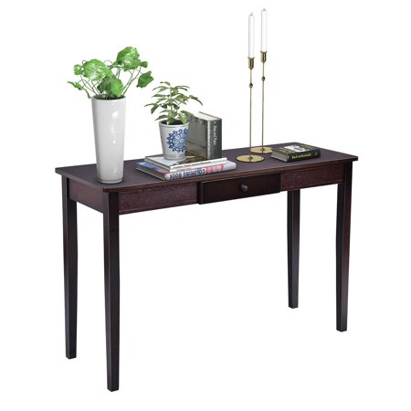 Costway Console Table Entry Hallway Entryway Side Sofa Accent Table Drawer Wood