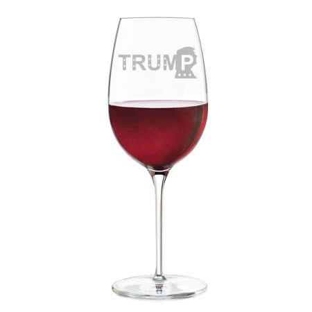 Trump Engraved Wine Glass (Engraved Crystal Wine Glasses)