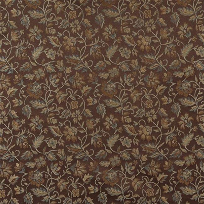 Designer Fabrics E622 54 inch Wide Floral Brown, Green And Gold Damask Upholstery And Window Treatment Fabric