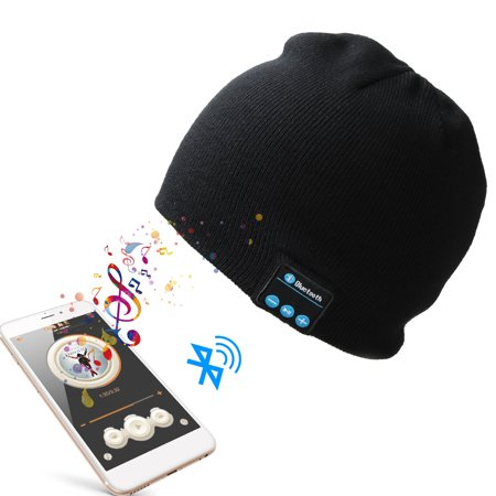 948d48946ea Bluetooth Music Beanie Hat Wireless Smart Cap Headset Headphone Speaker Mic  - Walmart.com