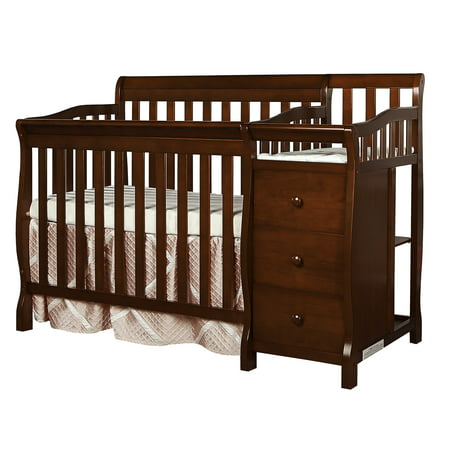 Dream On Me Jayden 4-in-1 Portable Convertible Mini Crib With Changer (Best Tiny Love Baby Cribs)