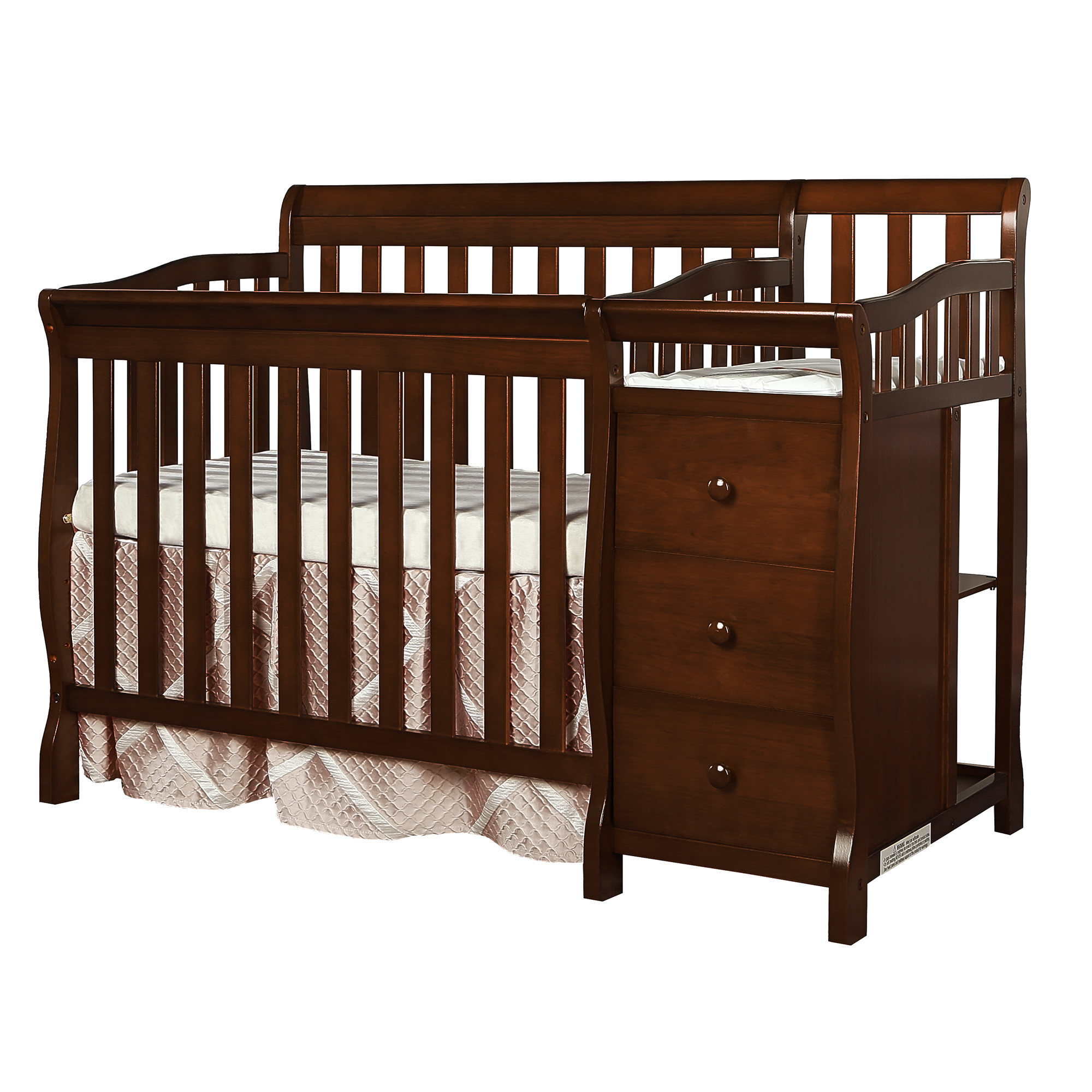 Dream On Me Jayden 4-in-1 Mini Convertible Crib and Changer, Espresso