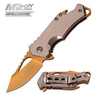 MTECH USA Assisted Opening Stainless Steel Bottle Opener Knives