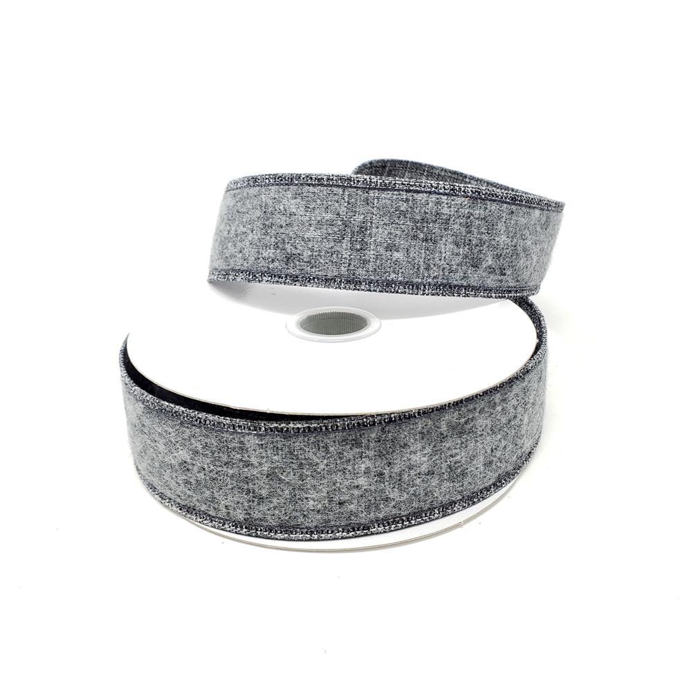 1-1//2-Inch Glitter Webbing Wired Ribbon 10-Yard