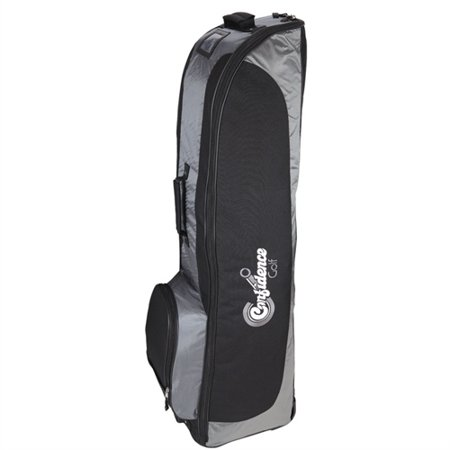 Confidence Golf Travel Bag / Soft Sided Flight Travel Cover with Wheels Silver
