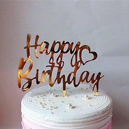 Prime Happy Birthday Cake Topper Food Safe Acrylic Cupcake Topper Funny Birthday Cards Online Inifofree Goldxyz