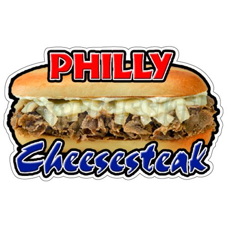PHILLY CHEESE STEAK Concession Decal restaurant sign cart trailer stand