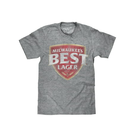 tee luv milwaukee's best lager t-shirt - licensed beer t-shirt