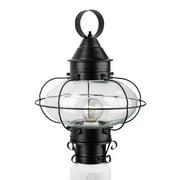 "Norwell Lighting 1321 Cottage Onion Single Light 15"" Tall Outdoor Pier Mount Lig"