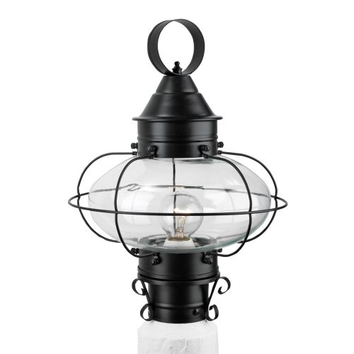 "Norwell Lighting 1321 Cottage Onion Single Light 15"" Tall Outdoor Pier Mount Lig"