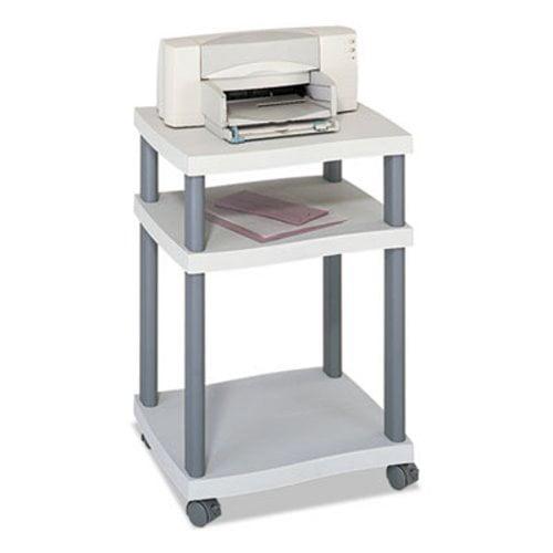 Safco Wave Design Printer Stand, 3-Shelf, Charcoal Gray (SAF1860GR)
