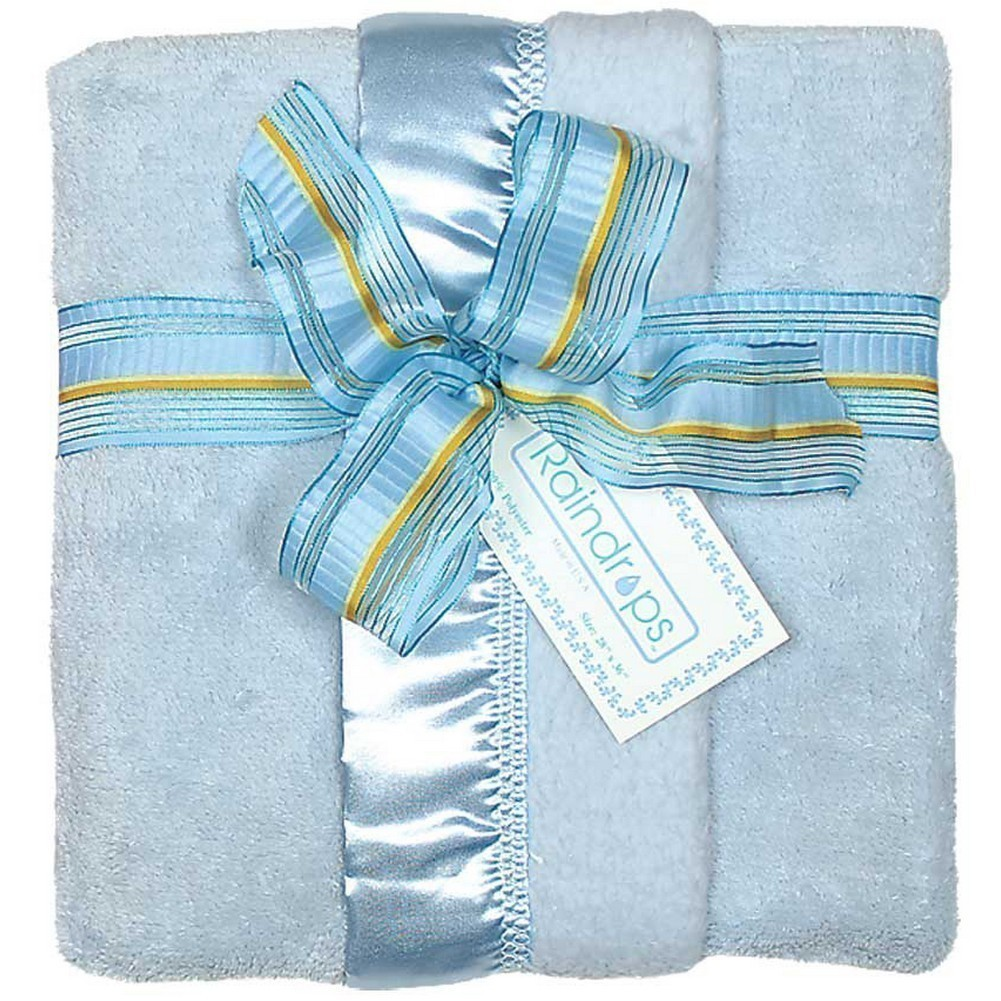 "Raindrops Baby Boys Flurr Receiving Blanket, Blue, 28"" X 36"" by Raindrops"