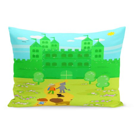 ECCOT Yellow Castle The Wizard of Oz Dorothy Her Dog Pillowcase Pillow Cover Cushion Case 20x30 inch - Dorothy Dog