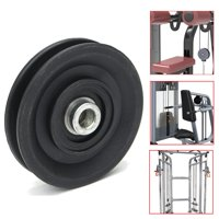 "Universal 3.5"" Nylon Bearing Pulley Sliding Wheel Cable Gym Fitness Equipment Parts"