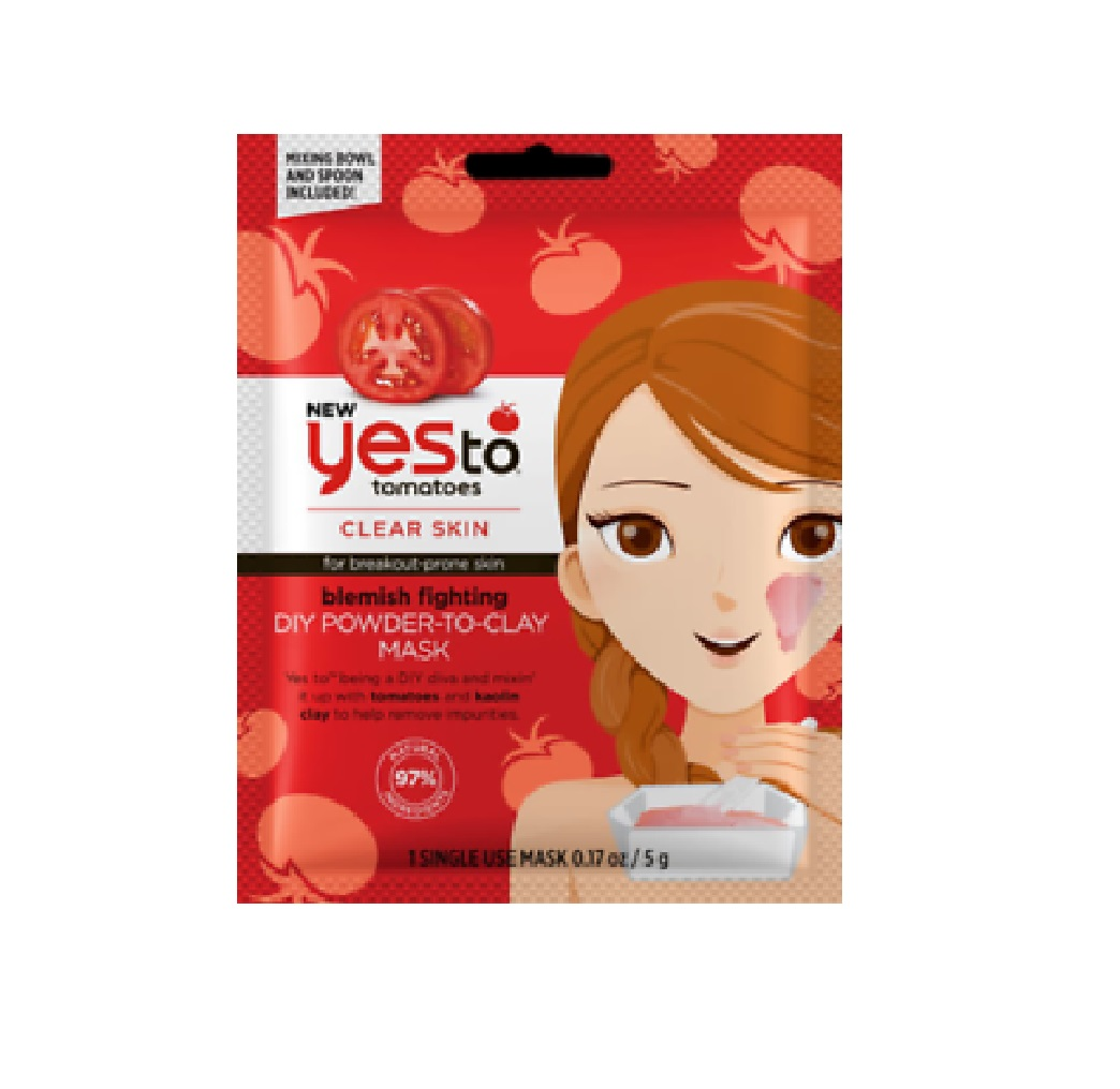 Yes To Tomatoes Blemish Fighting DIY Powder-To-Clay Single-Use Mask, 0.17 oz