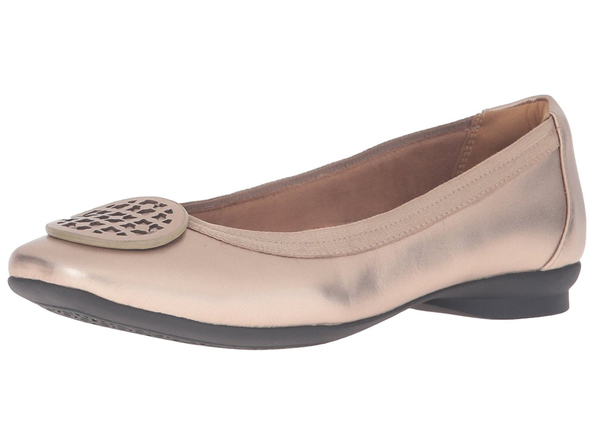 a23116fc861a Clarks Womens Candra Blush Leather Closed Toe Slide