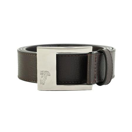 5534d827 Versace Collection Men's Medusa Steel Buckle Leather Belt Brown
