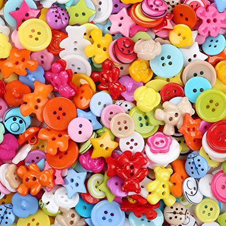 Plastic Buttons Mixed Small Buttons Lot For Sewing Fasteners Scrapbooking And Diy Handmade Craft With Different Color And Style 100Pcs