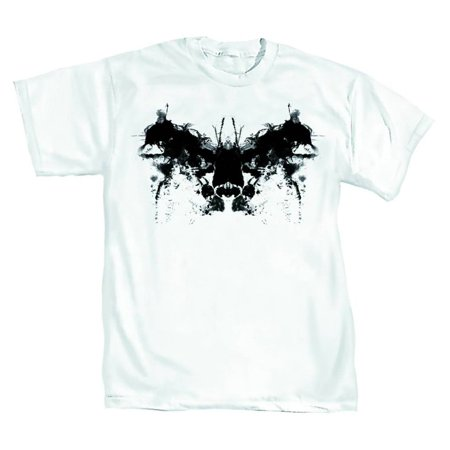 DC Comics Batman Rorschach Mens White T-Shirt | 2XL - Tm And Dc Comics