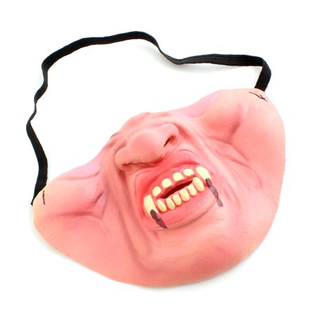 Half Face Masquerade Vampire Teeth Mask Cosplay Party Costume Fancy Dress Accessories - Half And Half Face Halloween