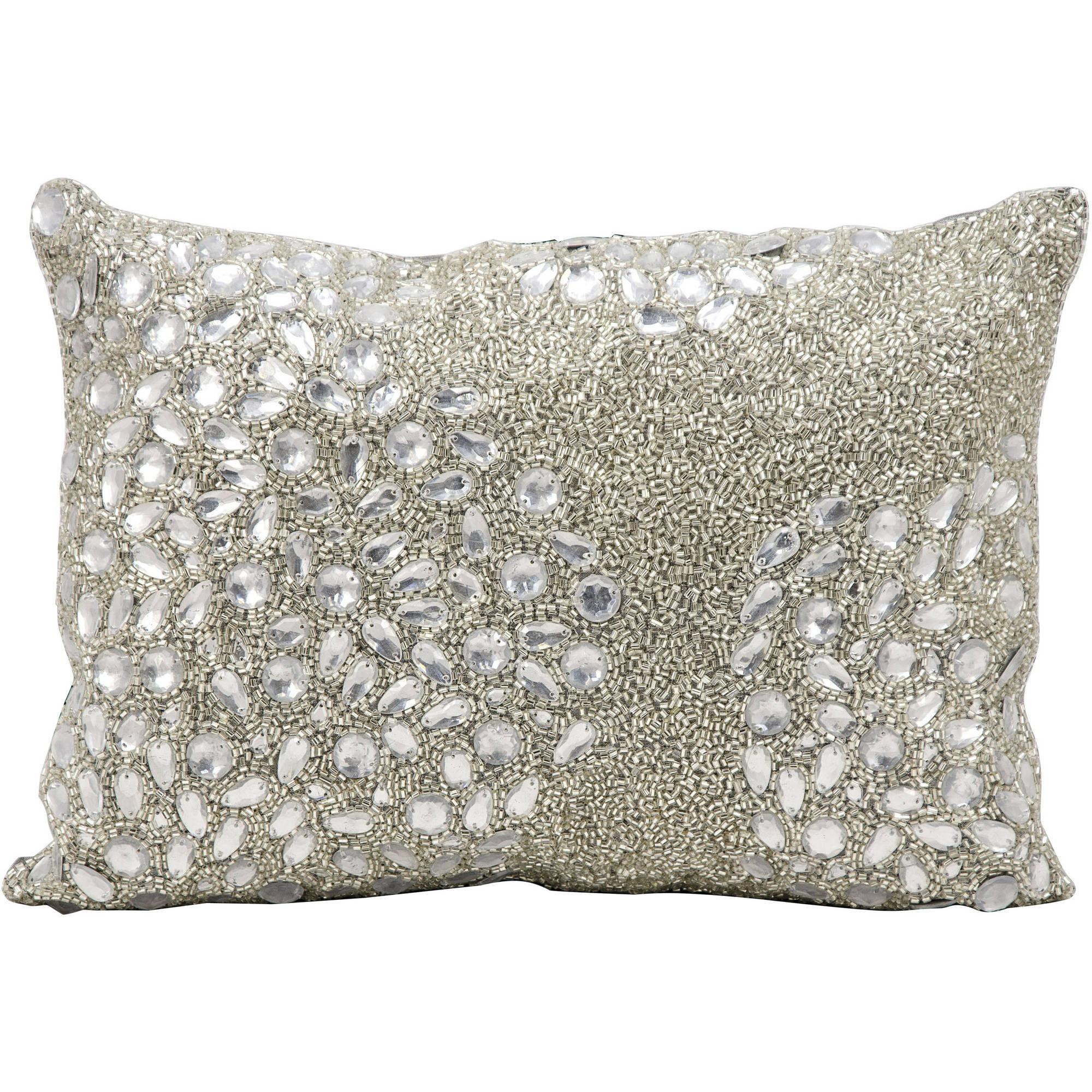 Nourison Luminecence Fully Beaded Decorative Pillow