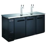 "Heavy Duty Commercial 2 Tap Black Beer Dispenser (24"" depth 72"" length) by SABA"