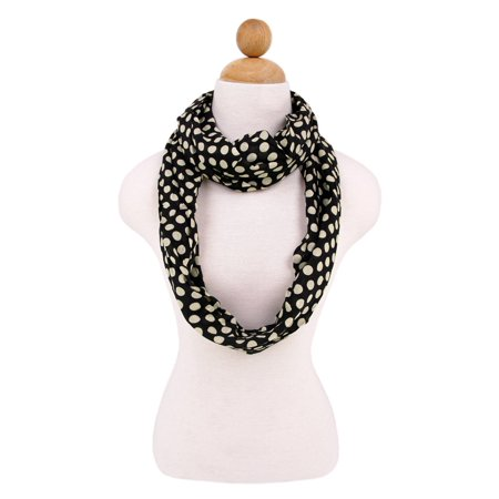 Premium Viscose Polka Dot Infinity Loop Fashion Scarf