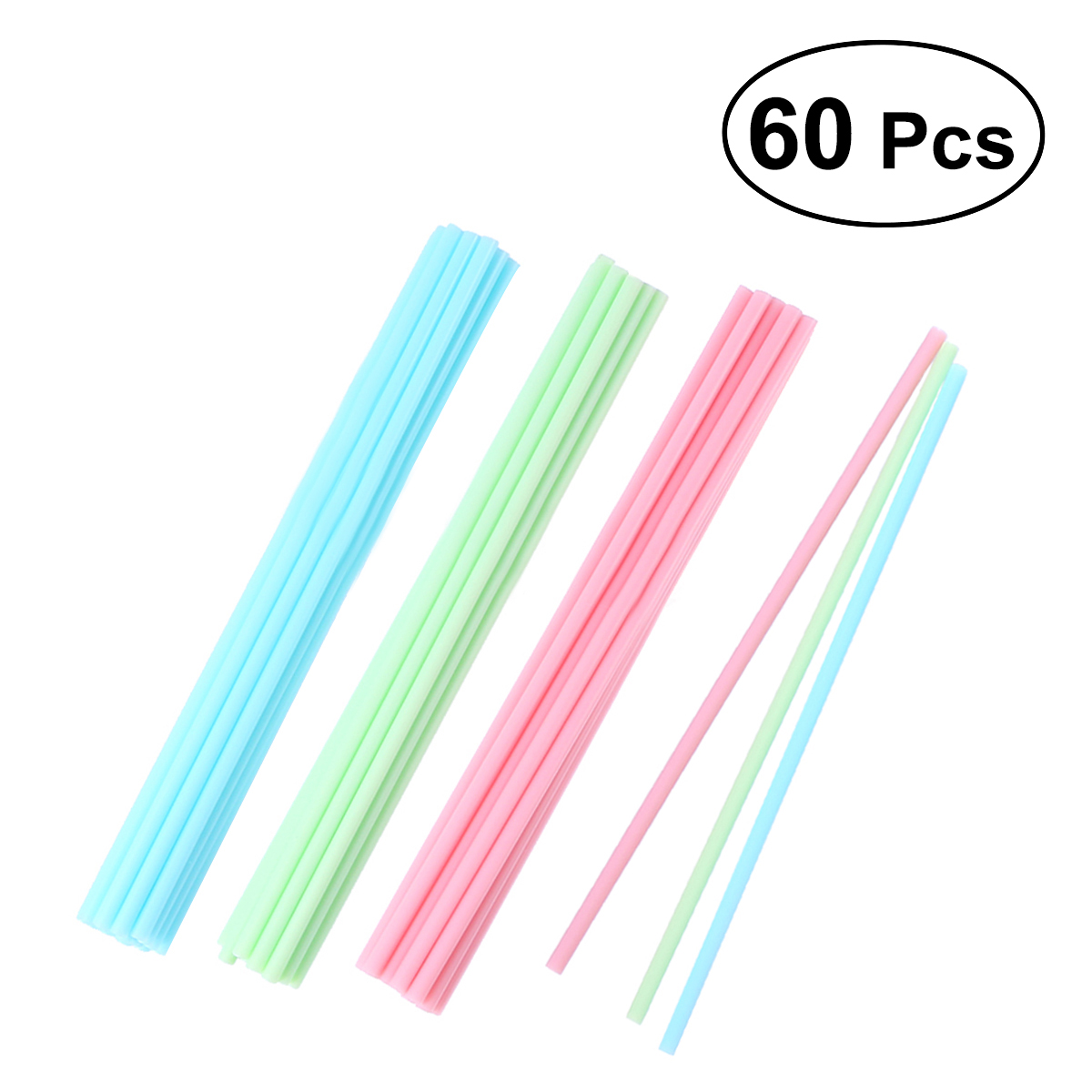 60 Cake Pop Sticks 15 cm Pastel Colors Kitchen Craft Plastic Handles for Cake Colored Lollipop Sticks