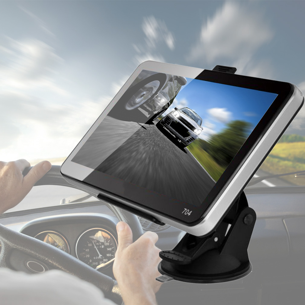 7'' Car Truck GPS Navigation+Wireless Rearview Camera Blu...