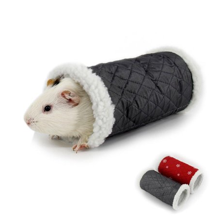 MYIDEA Guinea Pig Tunnel Playing Toys - Tube for Guinea Pigs, Hamsters, Sugar Glider,Snakes, Lizards Grey (Guinea Pig Play Huts)