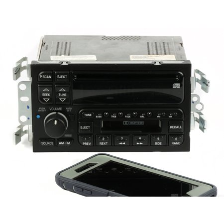 2000-2001 Buick LeSabre AM FM Stereo Cassette CD Player w Bluetooth UPO 09389324 - Refurbished