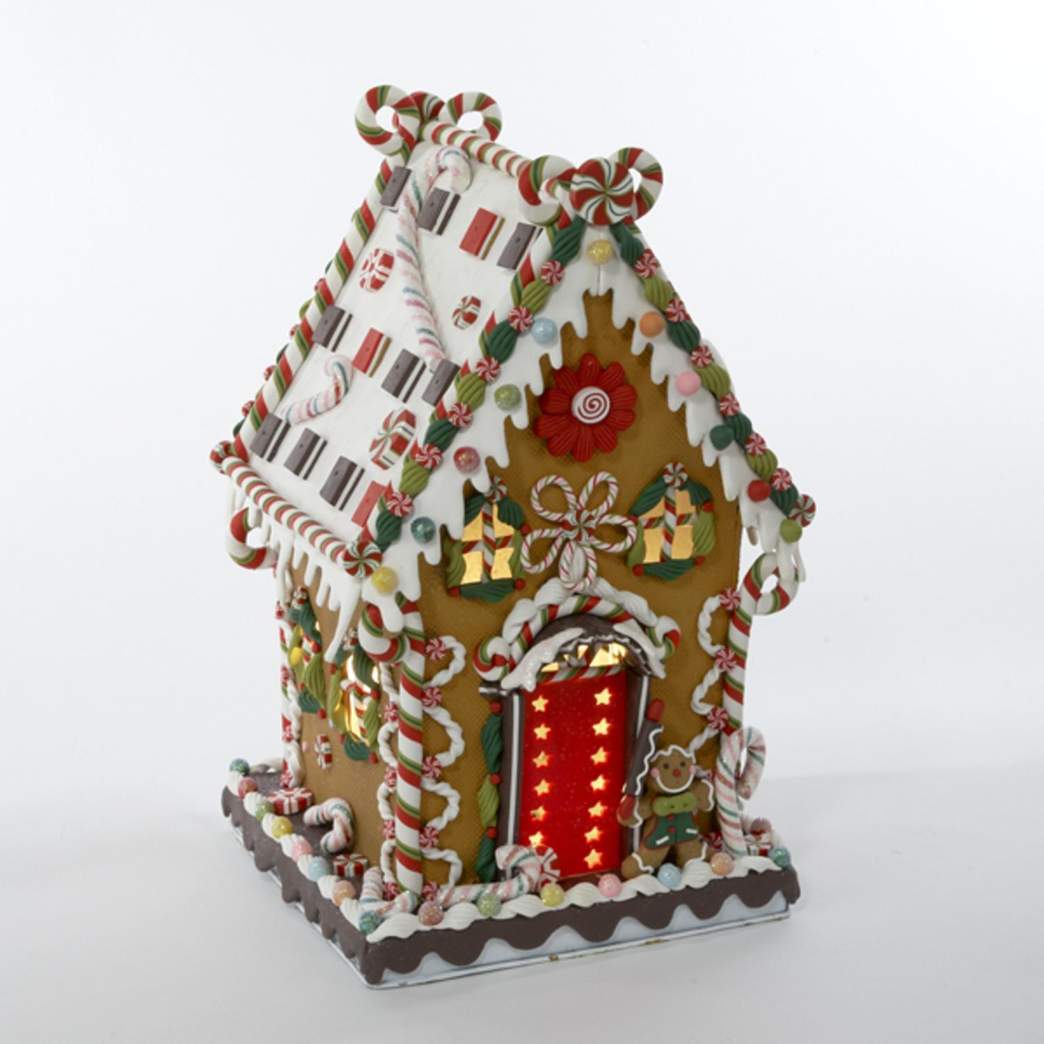 1325 gingerbread kisses lighted cookie and candy house christmas decoration walmartcom