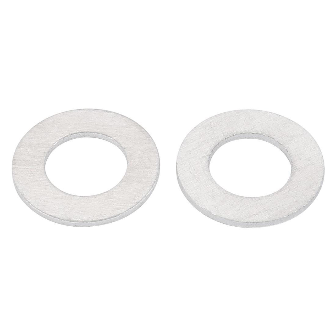 9mmx17mmx1mm Motorcycle Hardware Drain Plug Crush Aluminum Washer Seals 50pcs - image 1 de 2