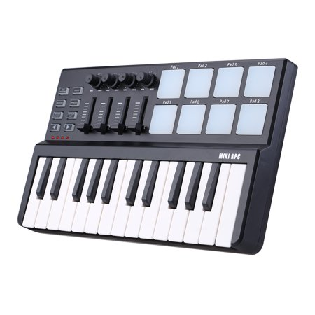 worlde panda mini portable mini 25 key usb keyboard and drum pad midi controller. Black Bedroom Furniture Sets. Home Design Ideas