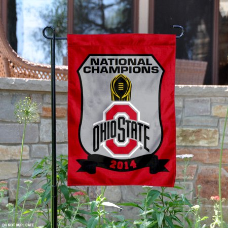 Ohio State Buckeyes National Champs 13  X 18  College Garden Flag