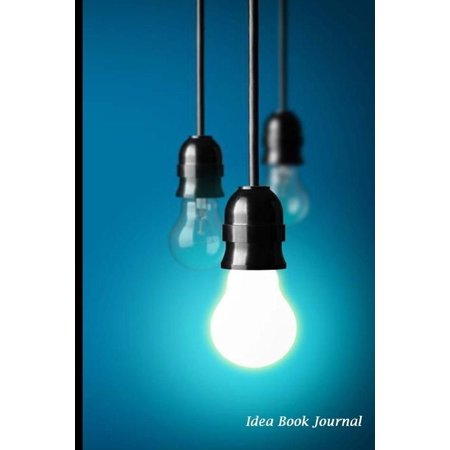 Idea Book Journal  Blue Light Bulb Cover  Draw And Write  Drawing Pad And Lined Journal  Blank Book 6 X 9  150 Pages To Write Bright Idea