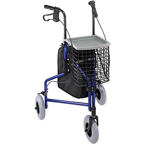 DMI 3-Wheel Aluminum Rollator, Royal Blue