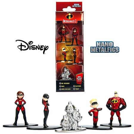 """Incredibles Nano Metalfig Disney 5 pack 1.5"""""""
