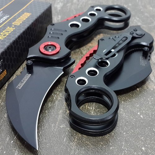 Tac-Force Tactical Pocket Knives Black Blade Tactical Knife